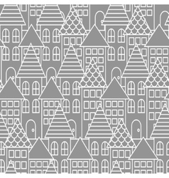 Gray and white line city seamless pattern vector