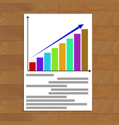 Growing statistics chart vector