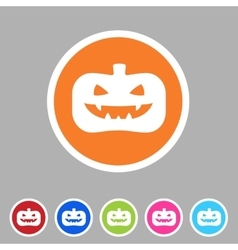Halloween pumpkin icon flat web sign symbol logo vector