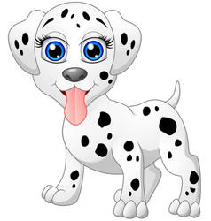happy dalmatian cartoon isolated on white backgrou vector image