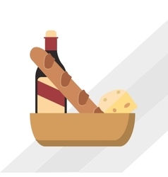 Icon design of bakery vector image