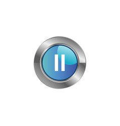 Icon media player control buttons vector