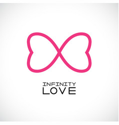 Infinite love symbol endless symbol vector