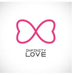 infinite love symbol endless symbol vector image