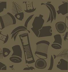 litter background rubbish seamless pattern vector image
