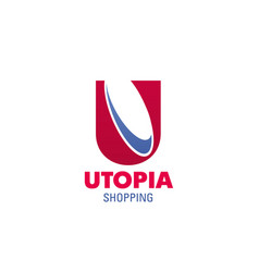 logo for utopia shopping mall vector image
