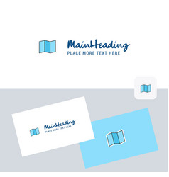 map logotype with business card template elegant vector image