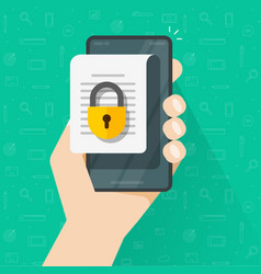 mobile document with secure confidential online vector image