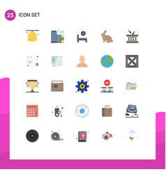 Modern set 25 flat colors and symbols vector