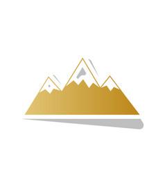 Mountain sign golden vector