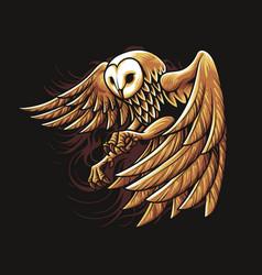 Night owl gold vector