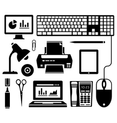 Office icons vector image