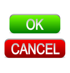 ok and cancel buttons vector image