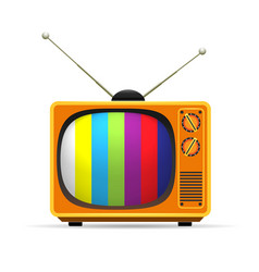 old vintage colors tv vector image