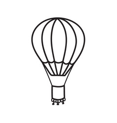 Outline hot air balloon vector