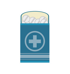 Pack medicine pill icon vector