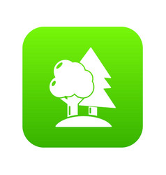 paintball field icon green vector image
