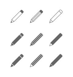 Pencil icons vector image
