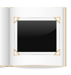 Photo album vector image