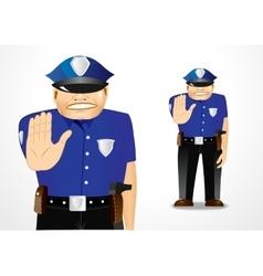 policeman showing stop gesture vector image