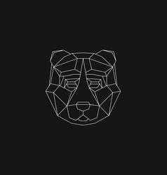 Polygonal geometric animals vector