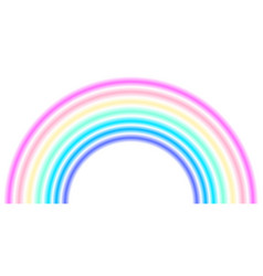 Rainbow arc shape half circle pastel neon vector