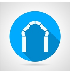 Round flat icon for trefoil arch vector image