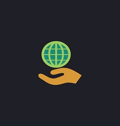 Save earth computer symbol vector