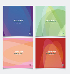 set banners with abstract wave background from vector image
