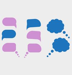 Set colorful speech bubbles vector