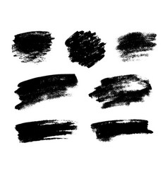 set of black grunge brushes vector image