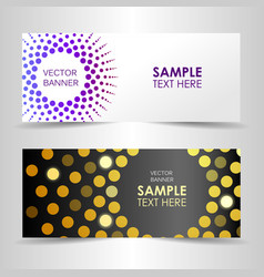 shining abstract banner with space for text vector image