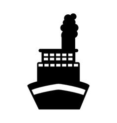 ship boat transport isolated icon vector image