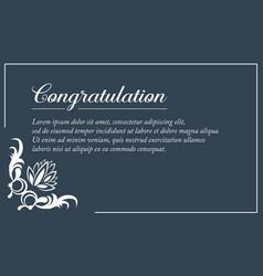 Simple style invitation wedding collection vector