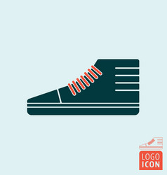 sneakers sports shoe symbol vector image