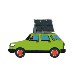 solar panel design vector image