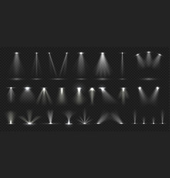 Stage spotlight show stage light effect lighted vector