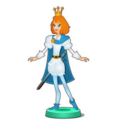Statuette of a fairy young prince isolated on vector