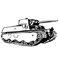 Tank eps vector