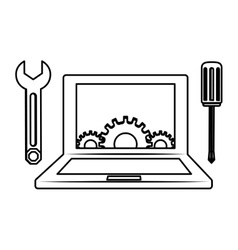 technical service computers icon vector image