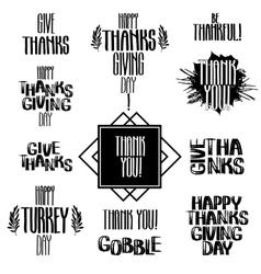 Thanksgiving inscription vector
