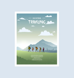Traveling poster vector