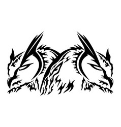 Two owls black sign vector