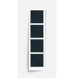 vertical photo frame strip concept single vector image