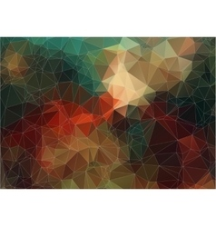 Vintage color abstract polygonal background vector image