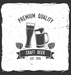 vintage design for bar pub and restaurant vector image