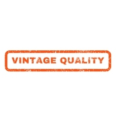 Vintage Quality Rubber Stamp vector image
