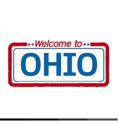 Welcome to ohio of us state design vector