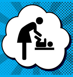 women and baby symbol baby changing vector image