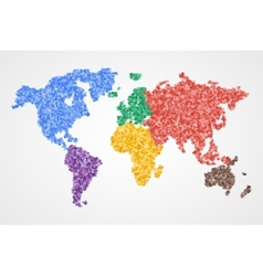 Dotted round world map Abstract vector image